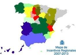 Mapa incentivos regionales